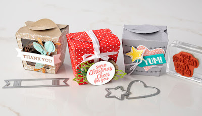 Stampin' Up! 7 Takeout Treat Box Projects ~ 2018 Holiday Catalog