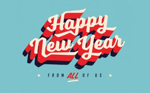 happy new year images 2017 retro design