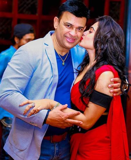 Piumi Hansamali With Ranjan Ramanayaka