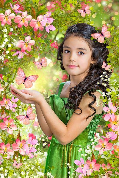 PSD фотошаблоны и коллажи, оформление фотографий: Весенние ...