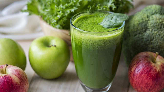 lime green veg smoothie fat loss burning shake
