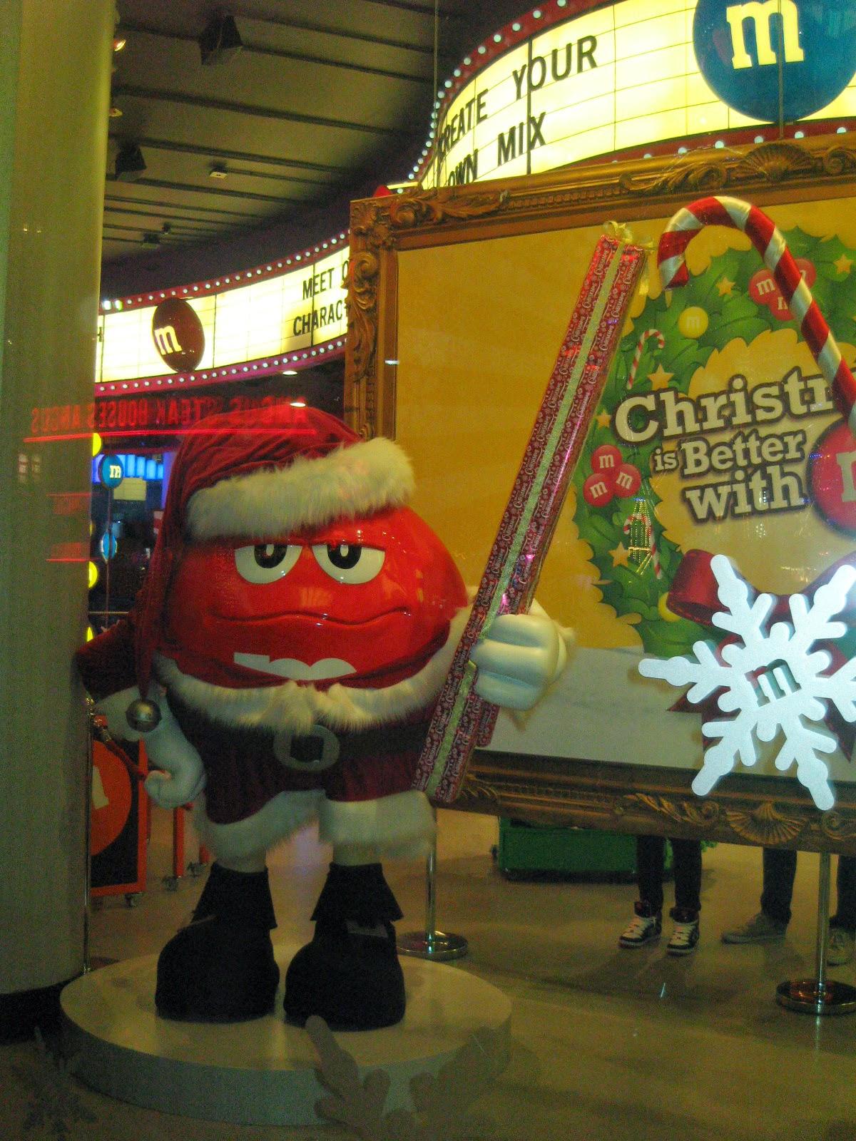 Tienda M&M's en Navidad