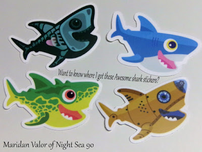 Shark Stickers; Do you want to know where I got these stickers for free?