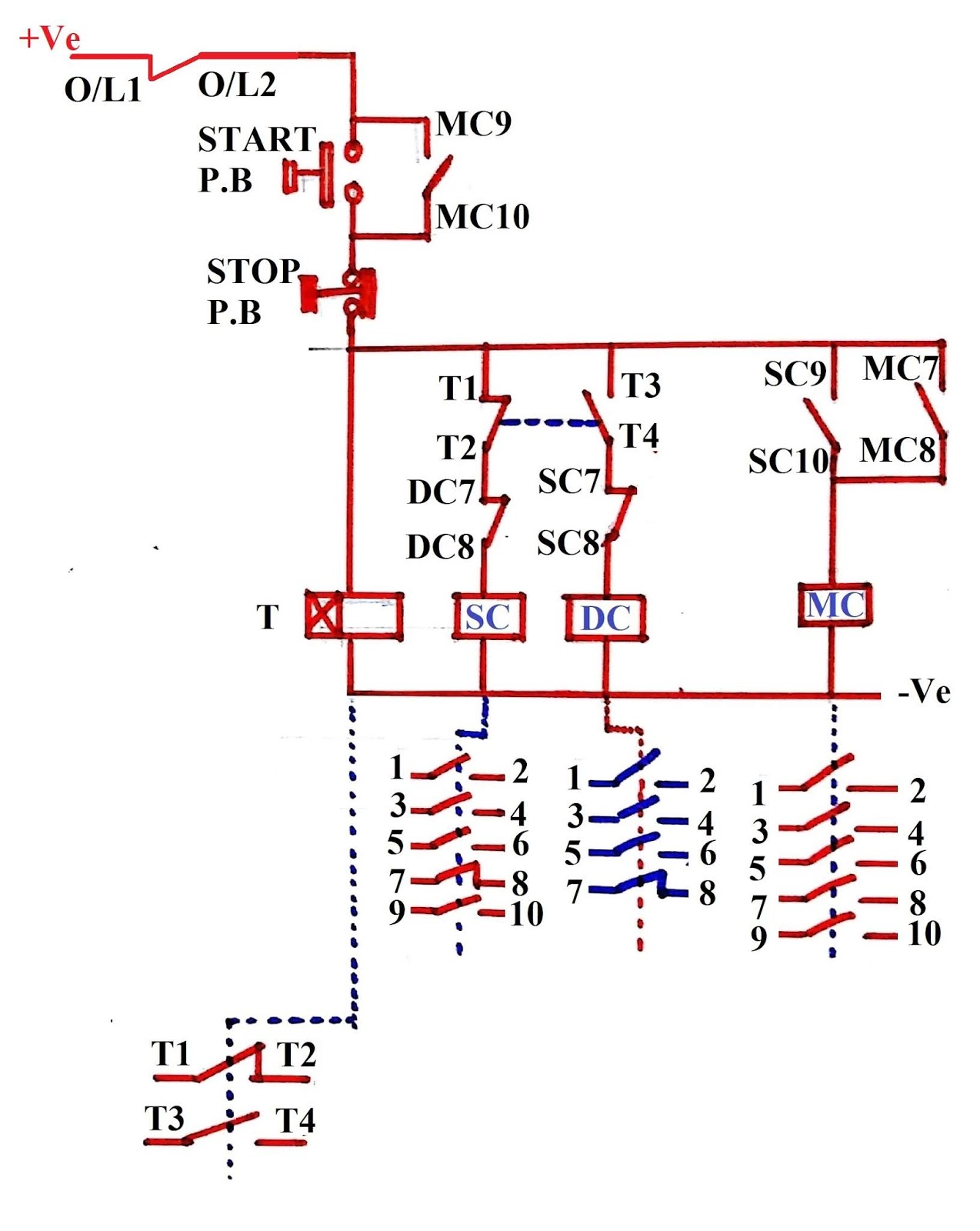 Contactor Relay Wiring Diagram On Wiring Diagram Of Dol Motor Starter