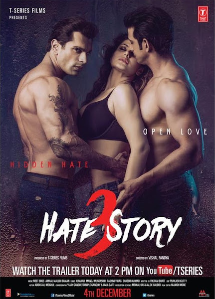 Poster of Hate Story 3 (2015) 720p Hindi DVDRip Full Movie Download