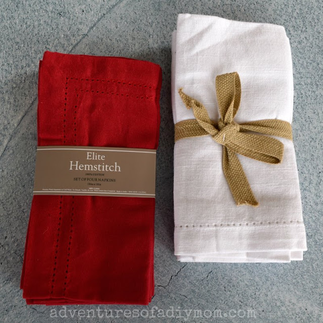 napkins for pillow covers
