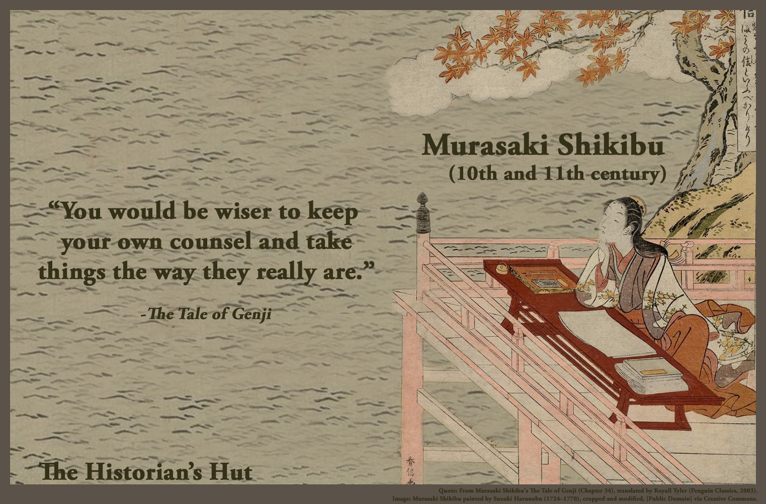 Genji Quotes | The Historian S Hut Quote Pictures Murasaki Shikibu