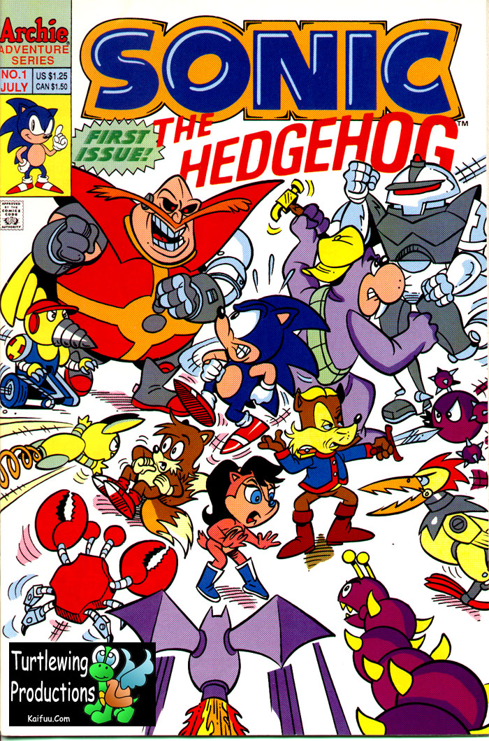 Read online Sonic The Hedgehog comic -  Issue #1 - 1