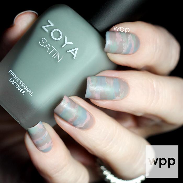 Zoya Naturel Satins Collection Sideswipe Nail Art