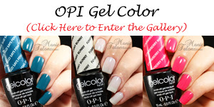 OPI GelColor Swatch Gallery