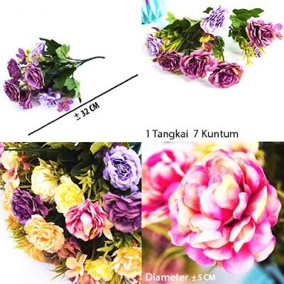 Bunga Plastik / Bunga Artificial Camellia (Seri D43)