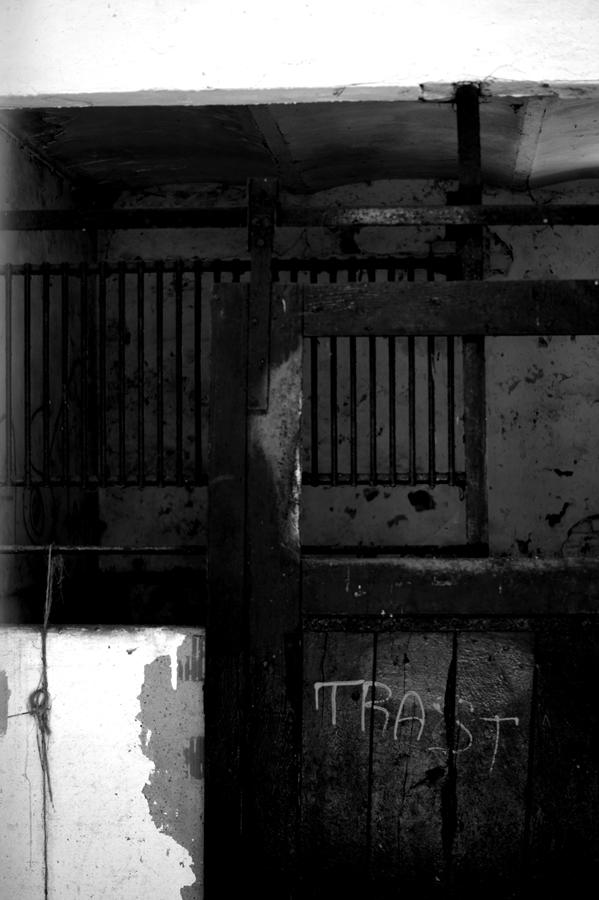 Blog + Fotografie by it's me! | fim.works | SchwarzWeissBlick No 15 | verlassenes Gehöft | Lost Place | Blick in verfallenen Stall