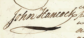A John Hancock signature.