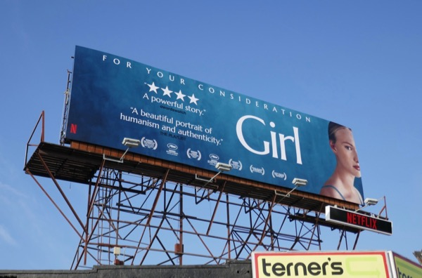 Girl film For consideration billboard
