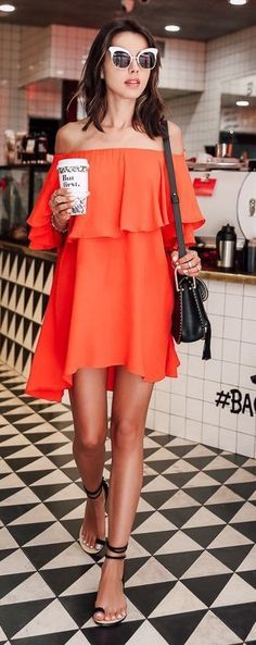 7 Most Beautiful Orange Dresses Ever