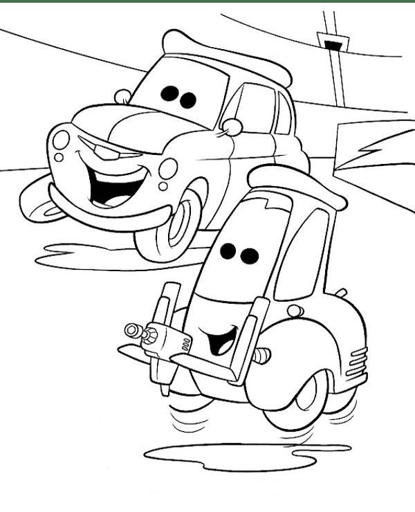 Tranh cho bé tô màu vương quốc xe hơi 18