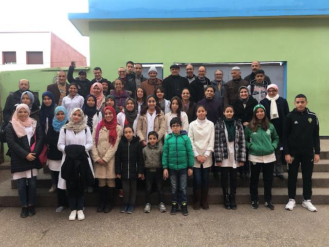 التلاميذ المتفوقون بثانوية حسان بن ثابت يحضون باحتفال خاص
