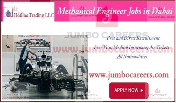 How to apply for mechanical engineer jobs in Dubai, Latest Mechanical Engineer Jobs in Dubai with Free Visa