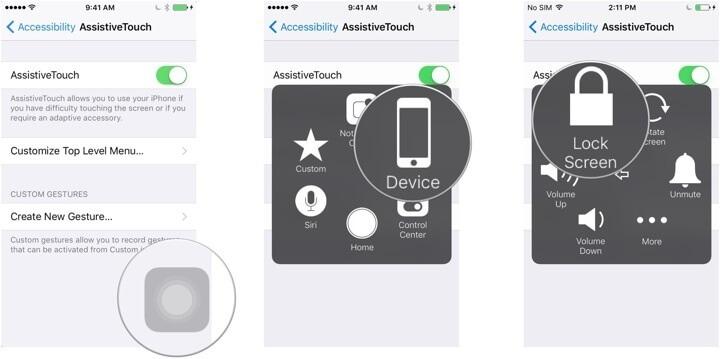 Mematikan iPhone dengan AssistiveTouch
