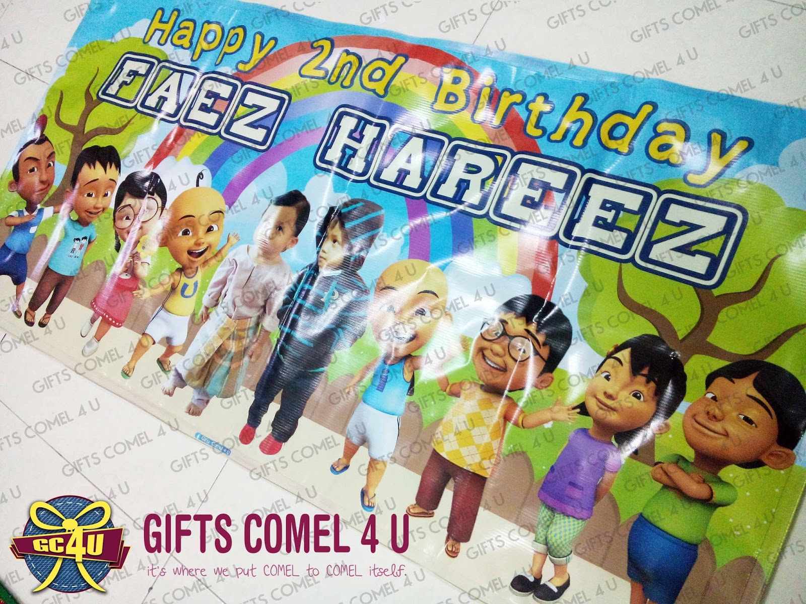 Gifts comel 4 u ordered by norziany mohd noor upin ipin from gc4u to norziany mohd noor 23rd nov 2015 delivery type self collect theme upin ipin friends theme bannerbackdrop 2ft x 4ft stopboris Image collections