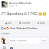 This FB User Predicted Barca & PSG Match On Facebook SEE PHOTOS