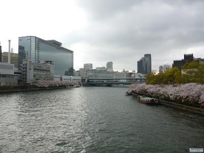 橋の上からの淀川