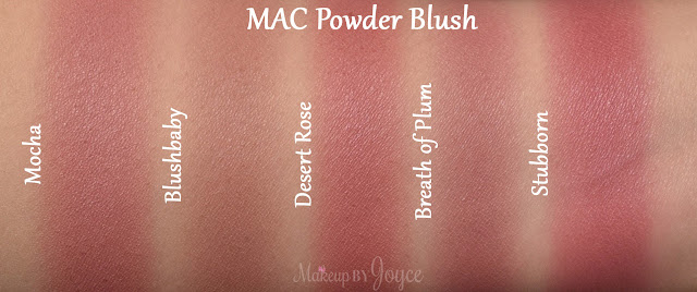 Mac Blush Palette Mocha Desert Rose Dupe Swatch Comparison