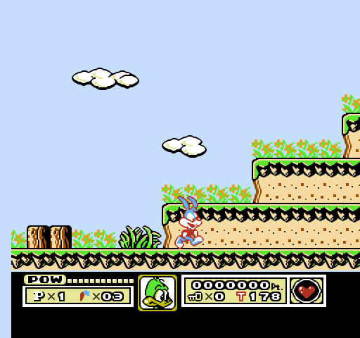 Tiny Toons Video game on Nintendo