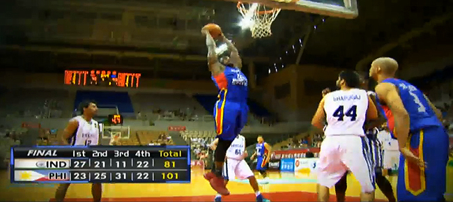 Mighty Sports Pilipinas def. India, 101-81 (REPLAY VIDEO) Jones Cup 2016