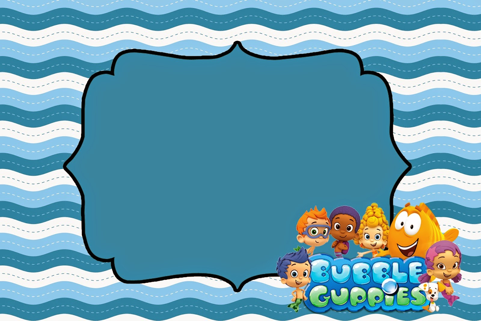 Bubble Guppies Free Printable Invitations