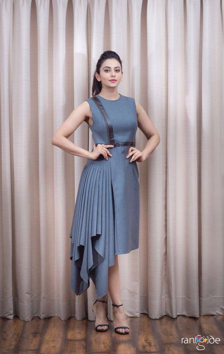 Rakul Preet Singh Hot Photos Shoot In Blue Dress 2017