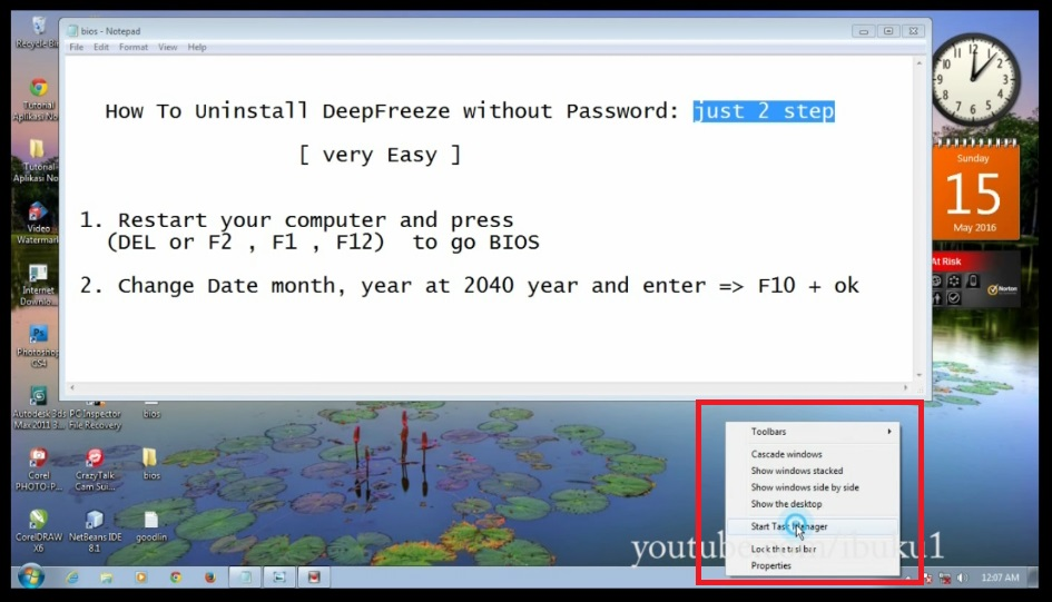 How To Uninstall Deep Freeze Without Password ( Manual not use Software)