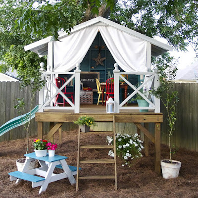 Backyard playhouse design idea