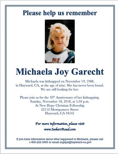 Dear Michaela