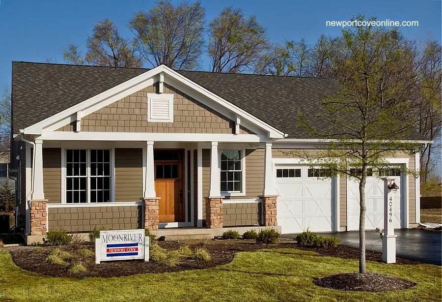 Modelo nuevo de casa americana en Estados Unidos