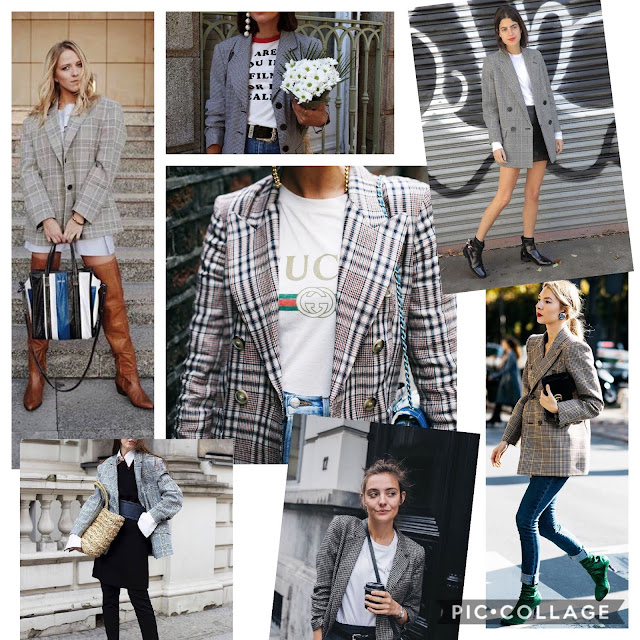 Trend modna marynarka w kratę żakiet w kratkę kratę trendy blog modowy moda hit na wiosnę wiosna 2017 trendy krata