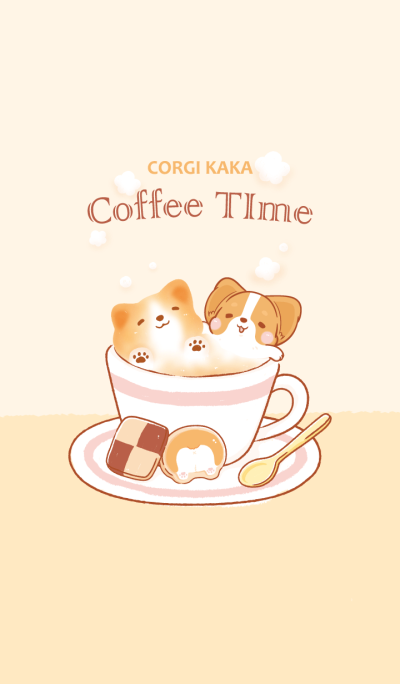 Corgi Dog KaKa - Coffee Time
