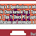 PC or Laptop Ki Specification or Information Check Karne  ki Top 3 Tips | Top 3 Tips To Check PC or Laptop's Specification or information  in (Hindi)