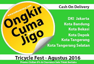 Tricycle Fest - Ongkir Cuma Jigo - Bisa COD Pula