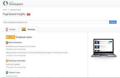 Cara Cek Kecepatan Website / Blog Dengan PageSpeed Insights