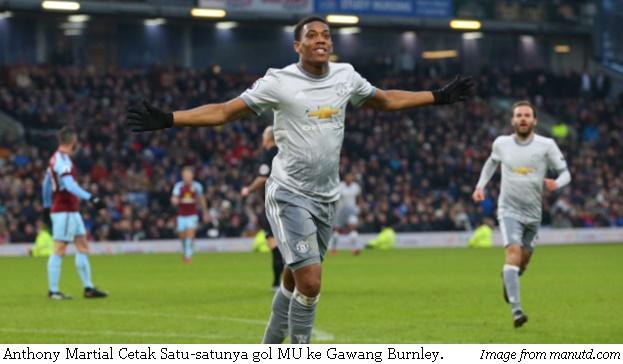Burnley vs MU (0-1), MU Raih Tiga Poin di Kandang Burnley