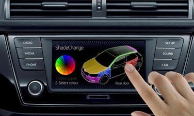 ShadeChange, Teknologi Ganti Warna Mobil Otomatis SKODA
