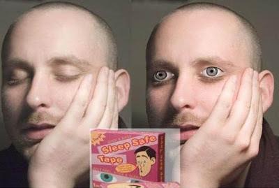 Erfindungen für Männer - mit offenen Augen schlafen lustig