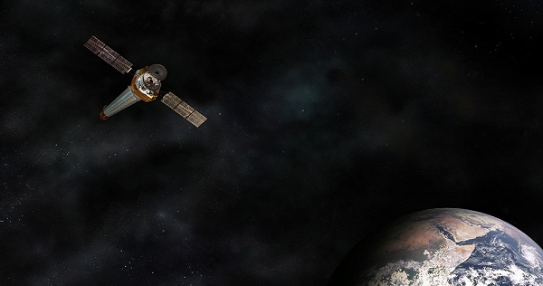 Illustration of the Chandra X-ray Observatory in Earth orbit. Credits: NASA
