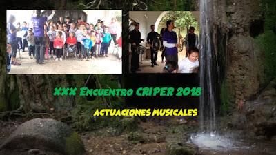 Actuaciones Musicales 30ª Encuentro CRIPER 2018