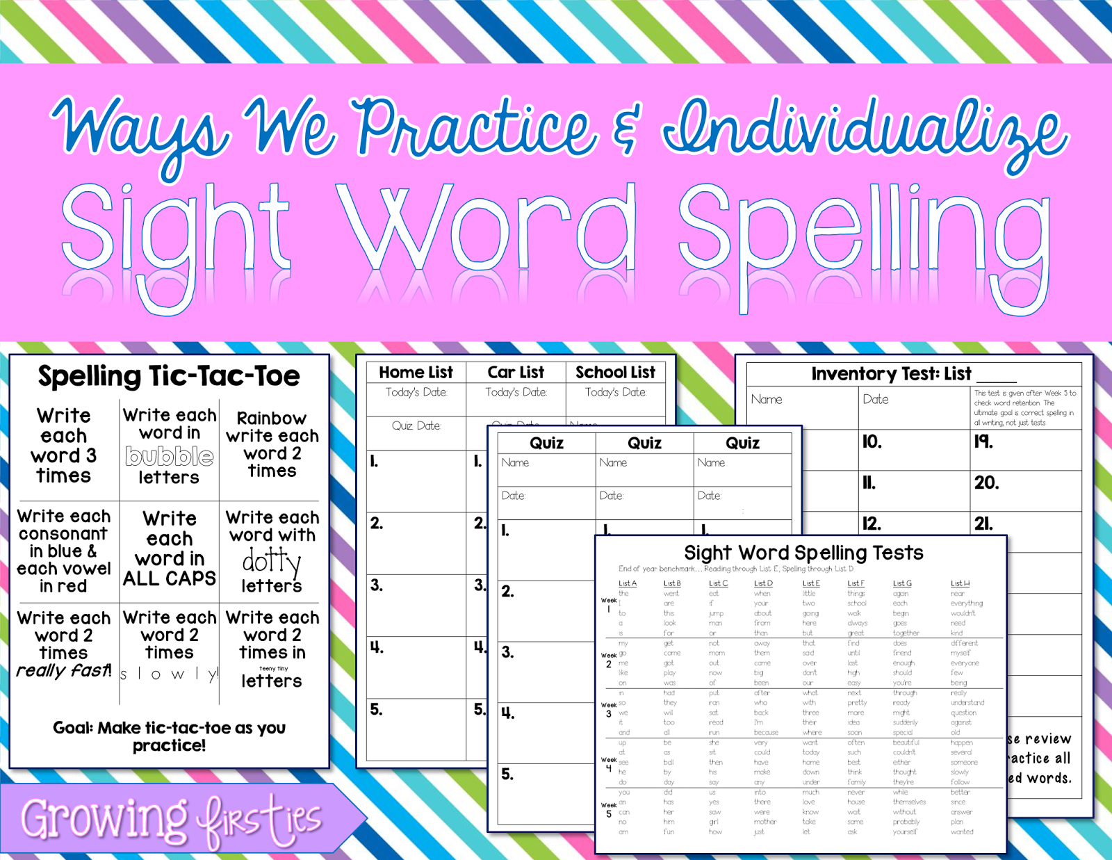Sight Word Spelling Practice