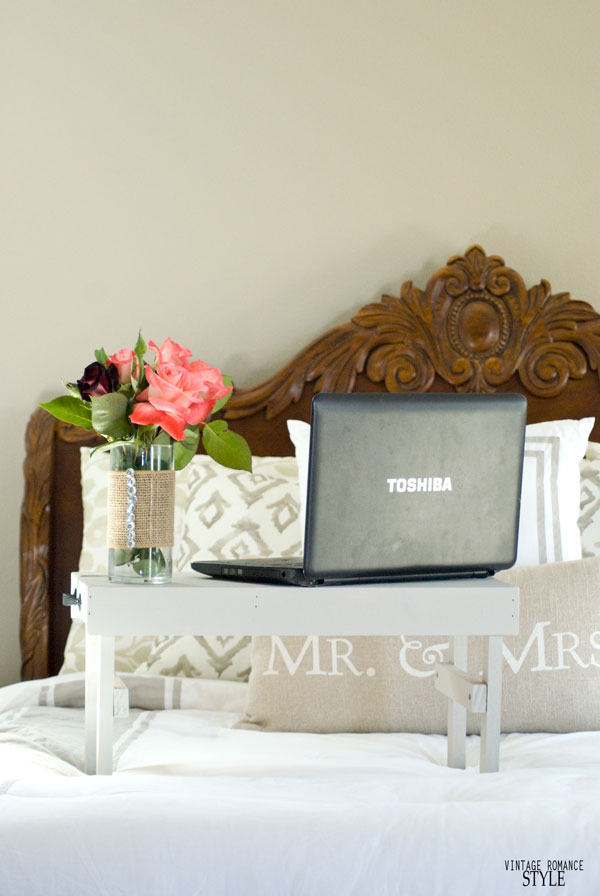 Easy Diy Laptop Stand For Bed Vintage Romance Style