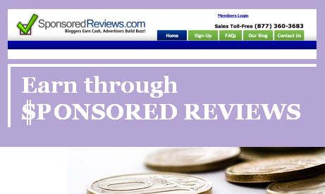 Sponsored reviews and guest posts