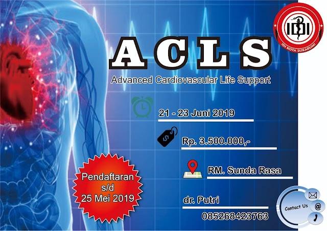 Pelatihan ACLS (Advance Cardiac Life Support) 21-23 Juni 2019 IDI Sukabumi