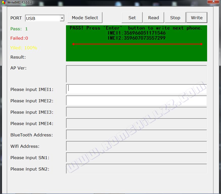 Serial number service tool v4905